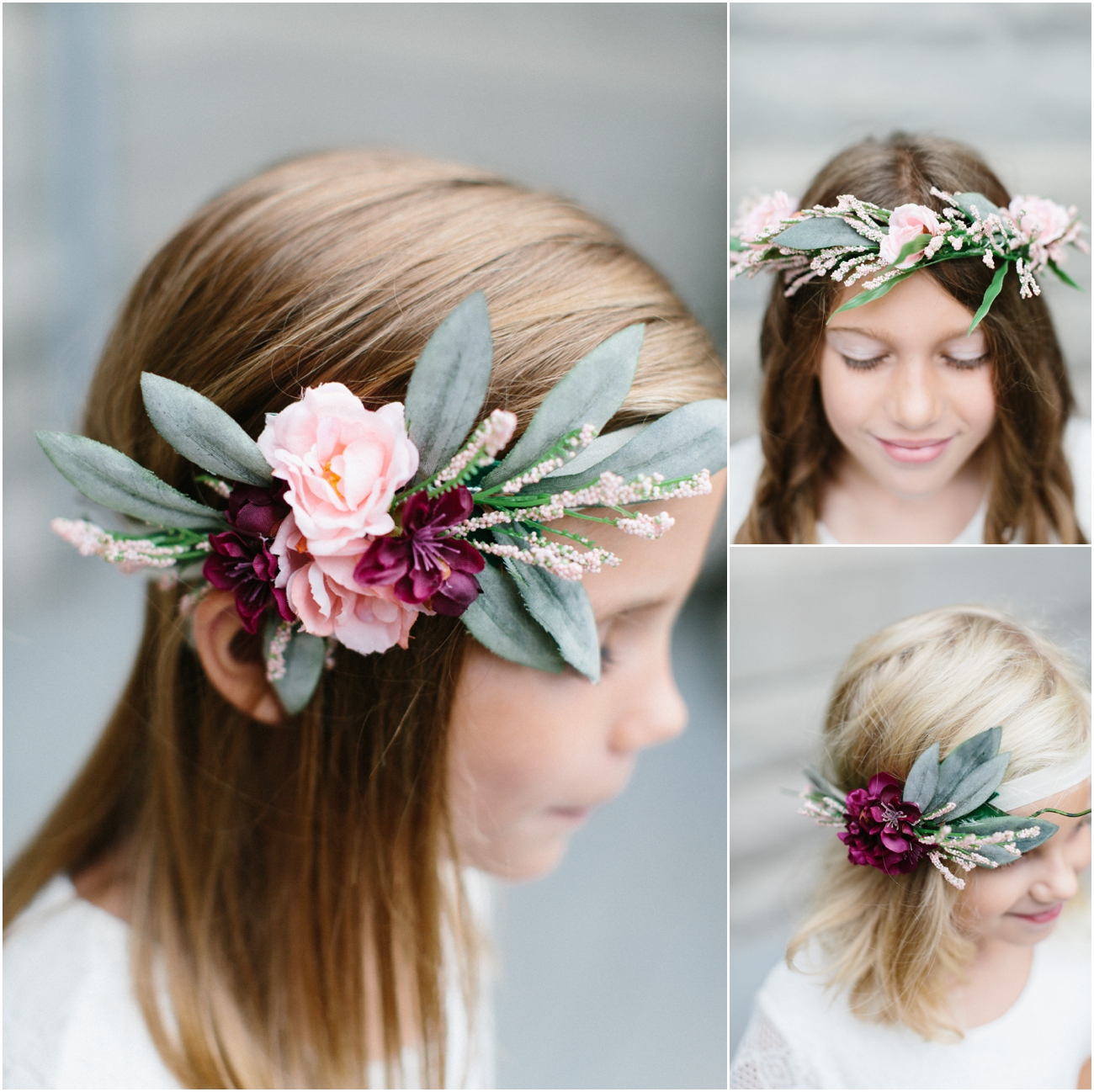 Flower Girls    Floral headband    Chicago Wedding Photographer ... bc0b18c9542